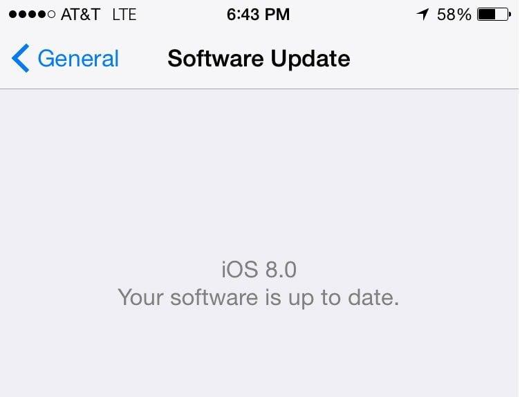 téléchargement IOS8