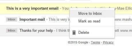 Gestion de courriel gmail