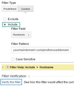 Filtre personnalisé dans Google analytique