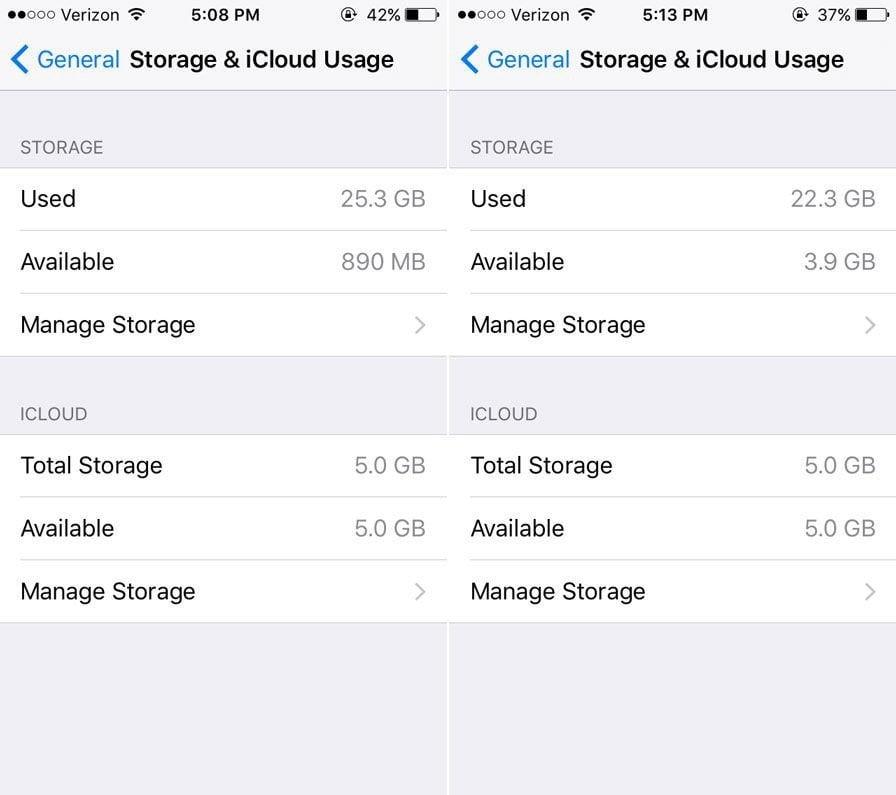 Plus d'espace de stockagesur iPhone
